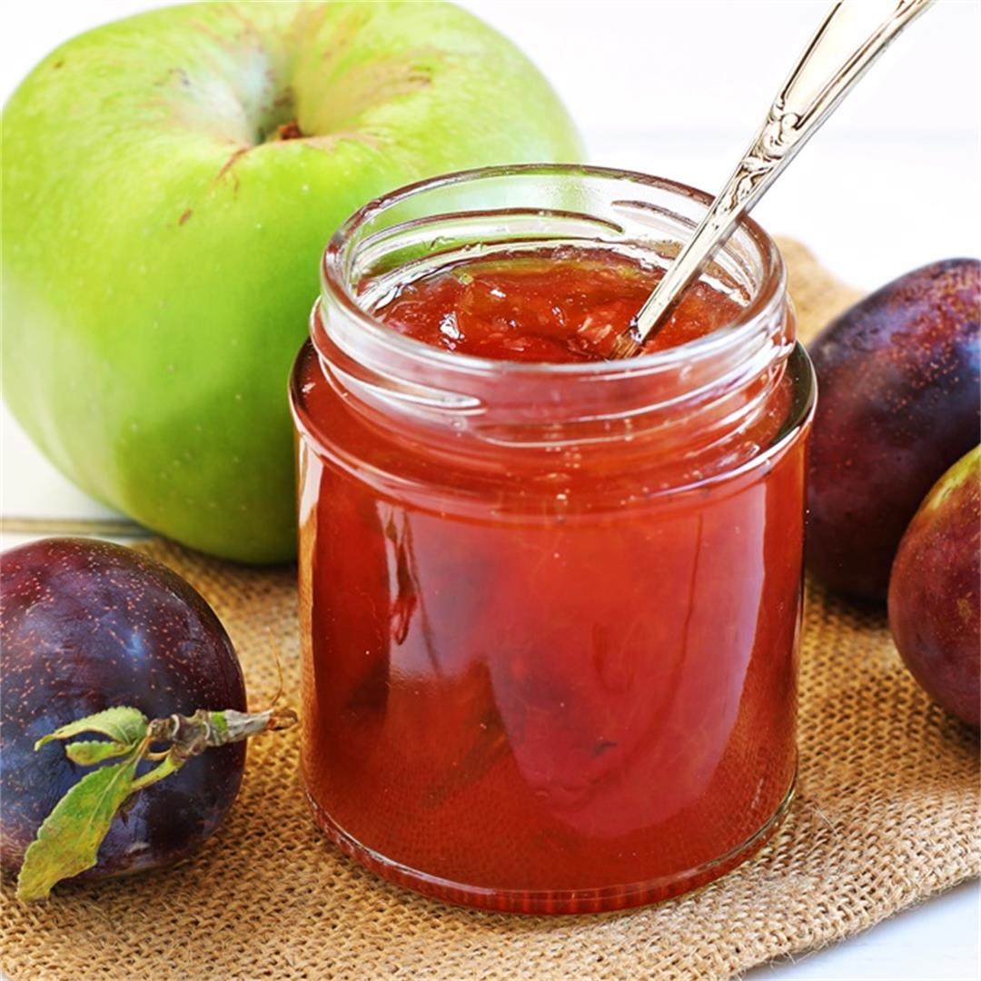 Plum & Apple Jam with step-by-step video!