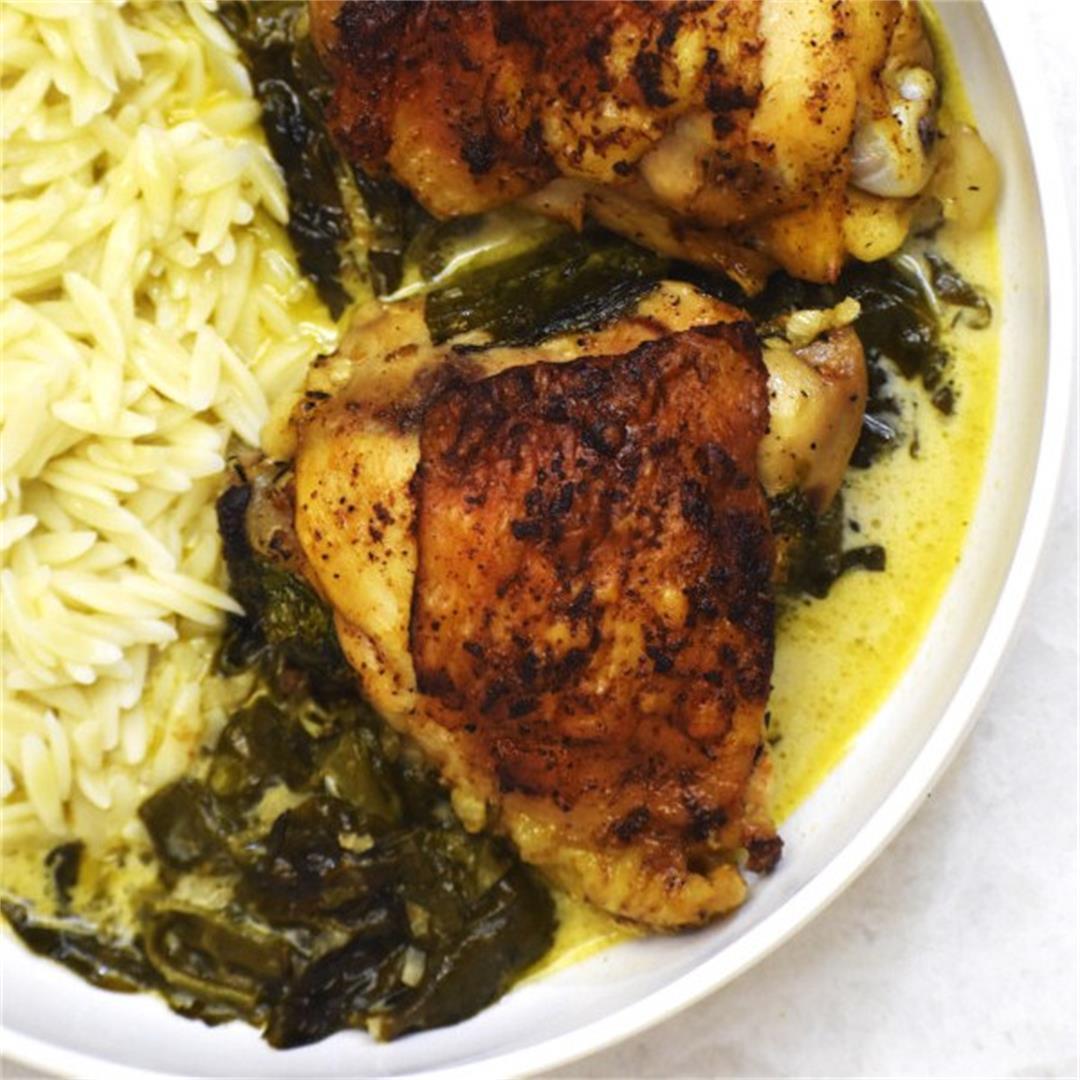 Creamy Lemon Chicken (Easy One-skillet Dinner!)- GypsyPlate