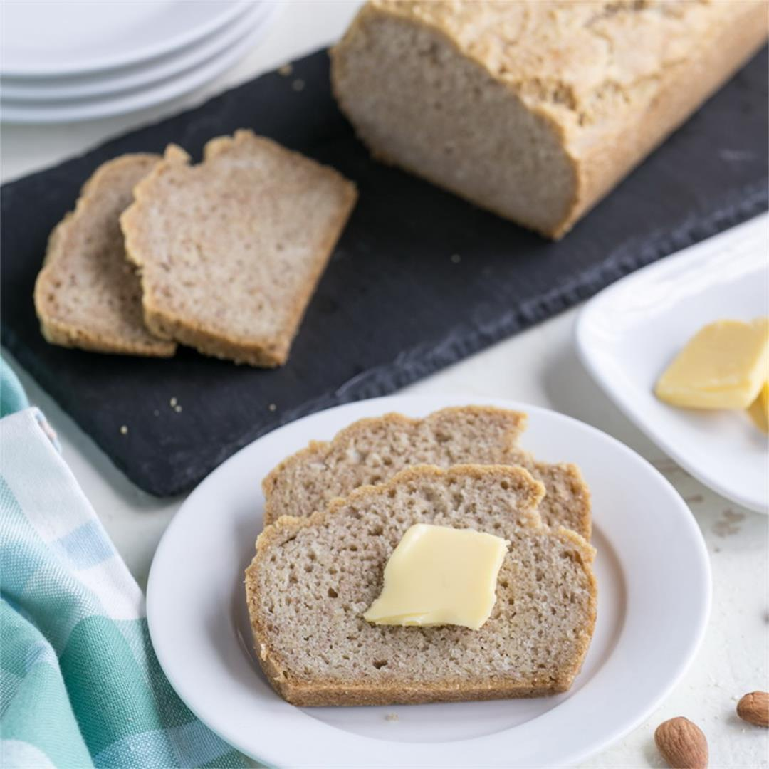 Almond Flour Bread (Low-Carb, Paleo, Gluten-Free)