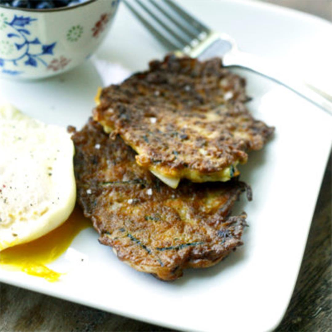 Vegetable Pancakes with Zucchini, Carrot and Onion