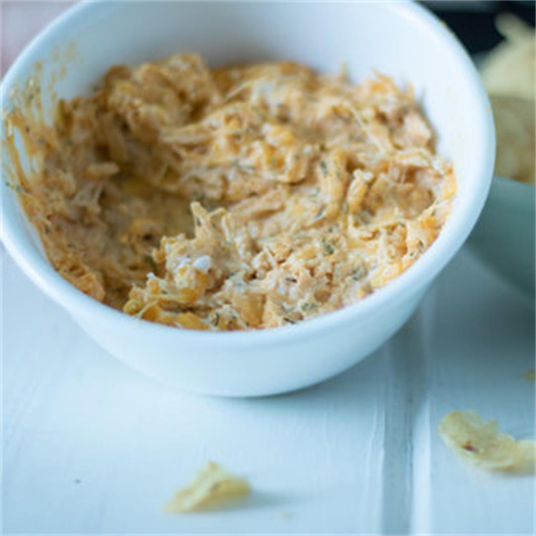 Crock Pot Buffalo Chicken Dip — The Buttered Home
