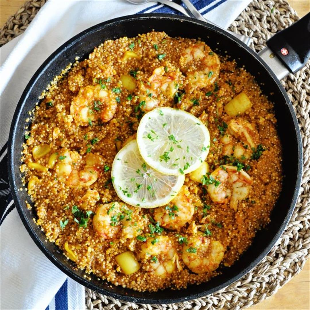 How to Make a SIMPLE Seafood Paella with Quinoa