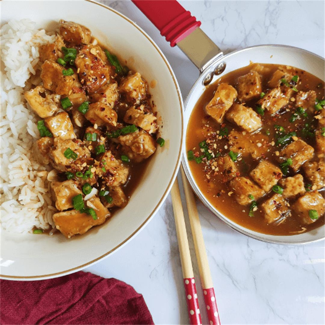 Vegan orange tofu recipe