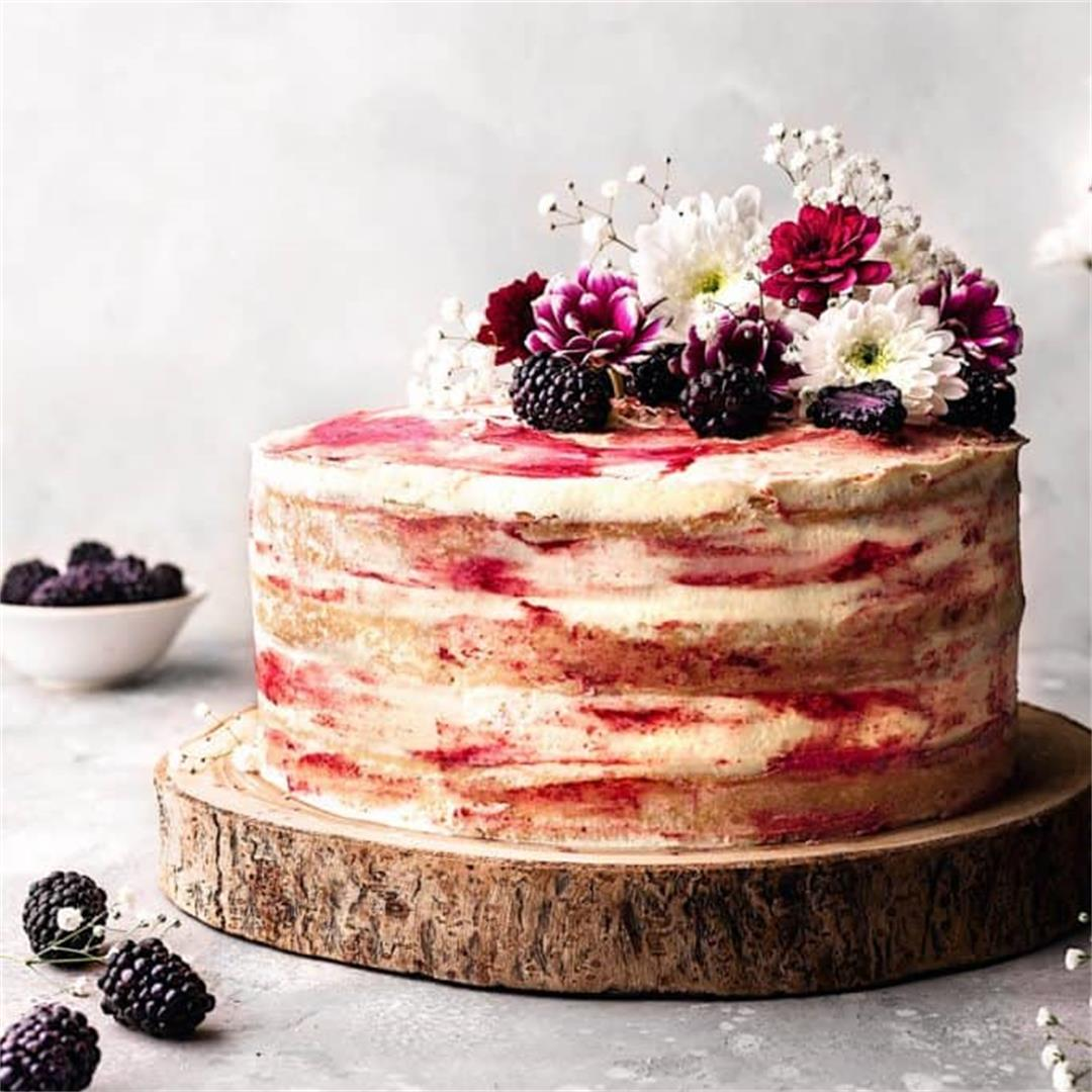 Blackberry and Gin Cake