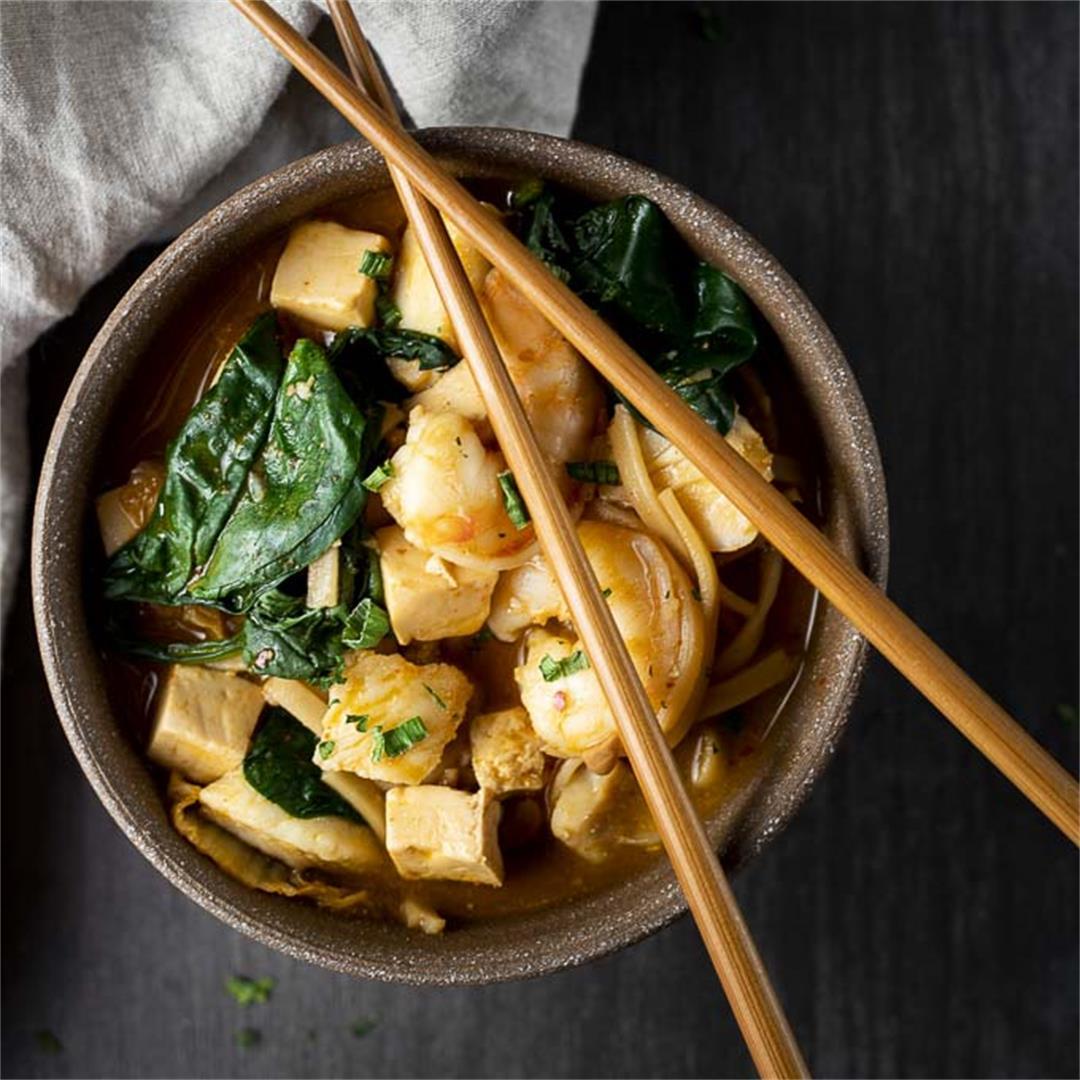 Spicy Kimchi Stew Recipe (Kimchi Jjigae Recipe)