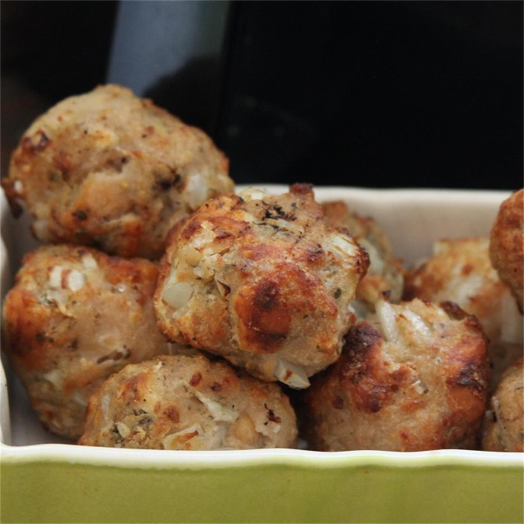 Sage & Onion Stuffing Balls In The Air Fryer