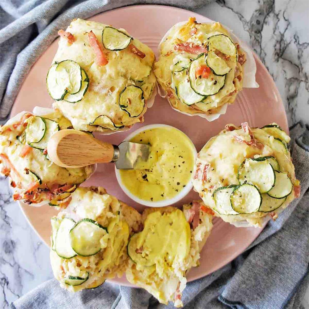Zucchini and Ham Muffins