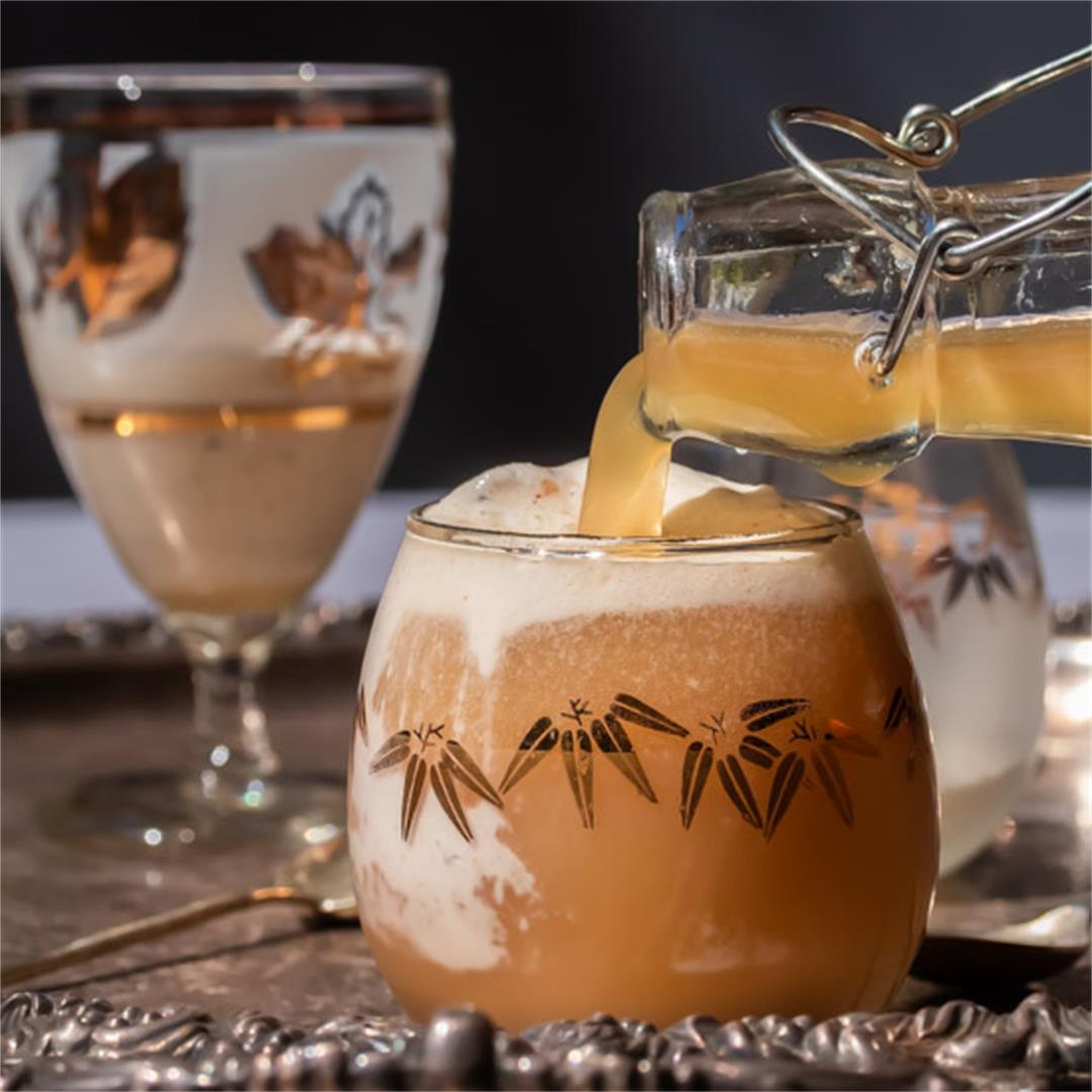 Lemon myrtle ginger beer spiders with macadamia ice cream