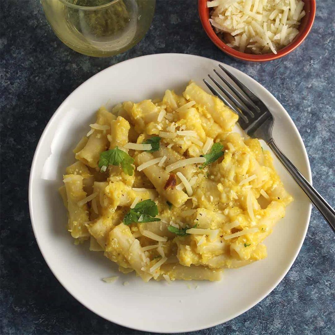 Creamy Roasted Acorn Squash Pasta