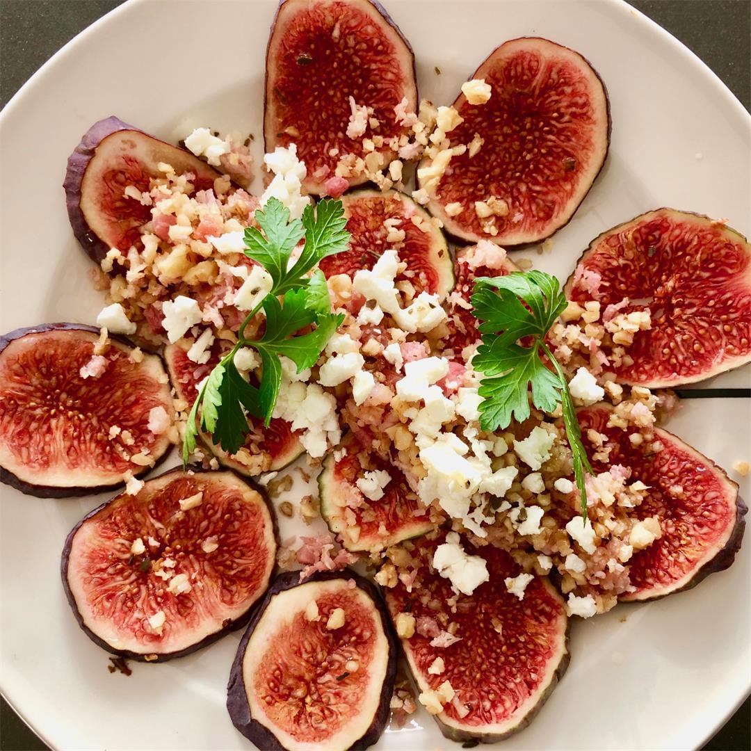 fresh fig carpaccio