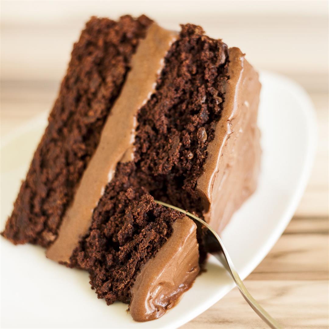 Perfect Vegan Chocolate Cake (Gluten-free)
