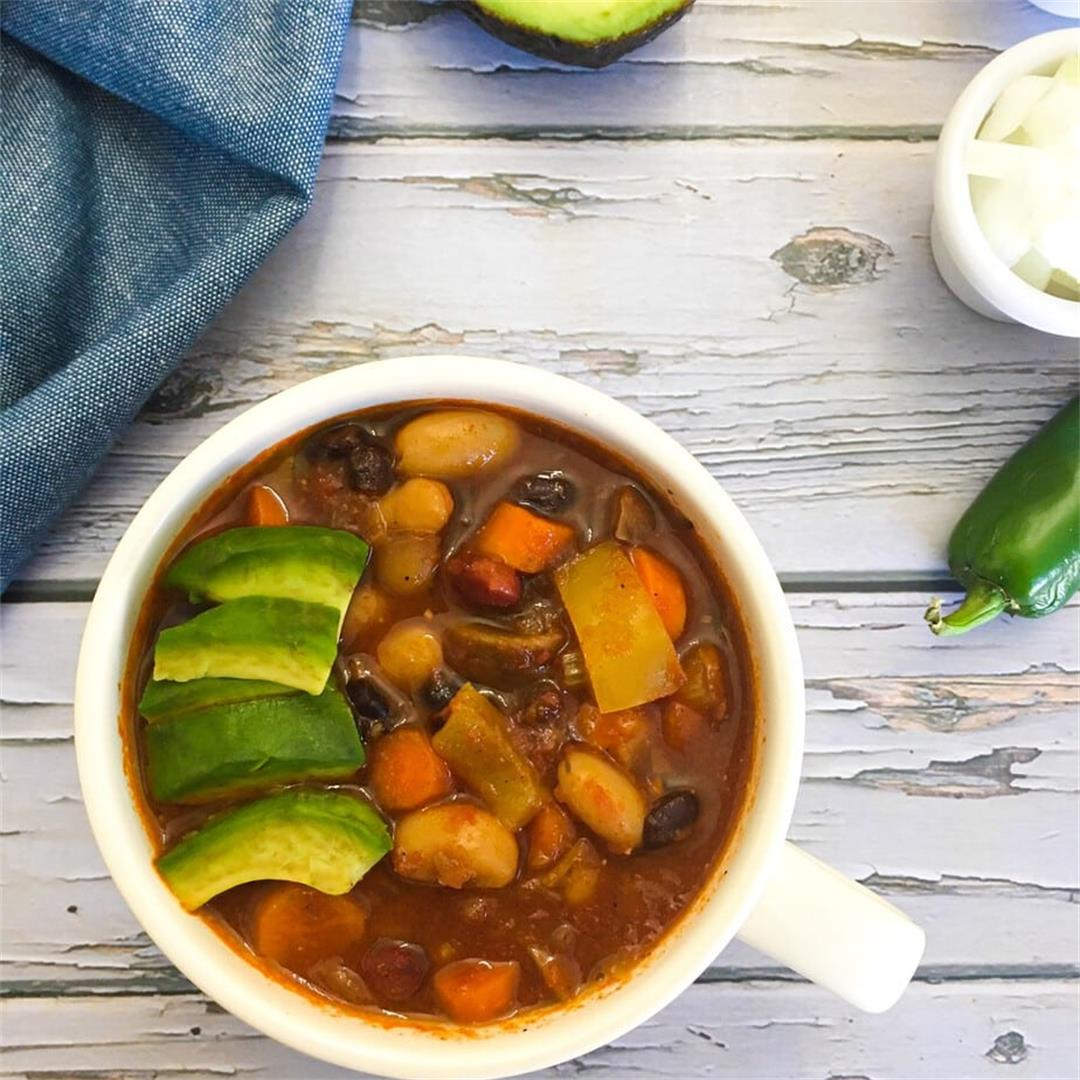 Instant Pot Vegan Chili (or stove top) -This Healthy Kitchen
