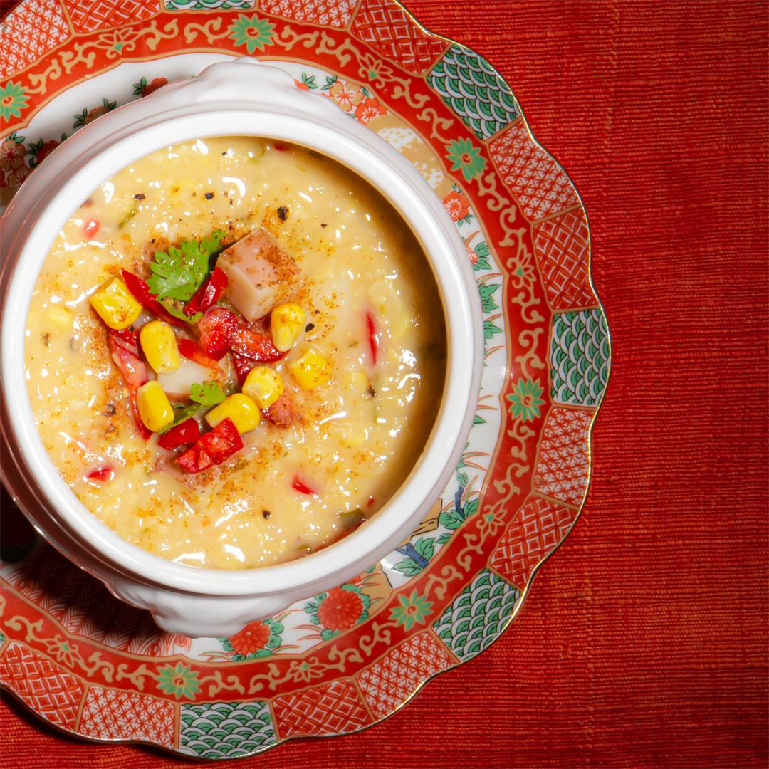 Soup Weather: Spicy Fresh Corn and Coconut Soup