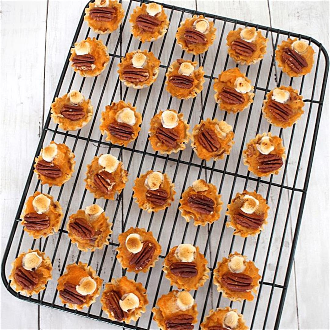 Phyllo Shells Sweet Potato Bites