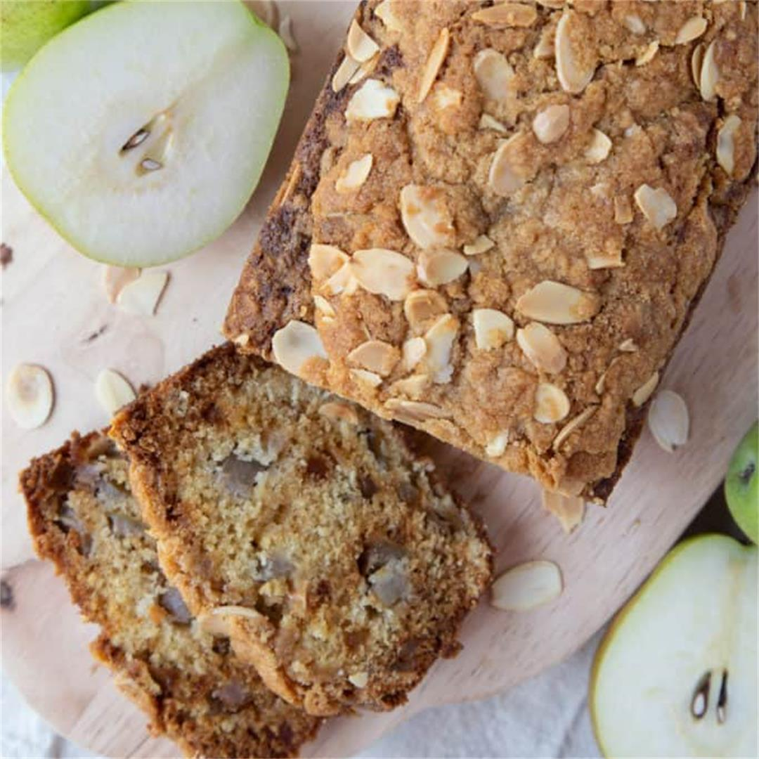Pear Bread with Candied Ginger