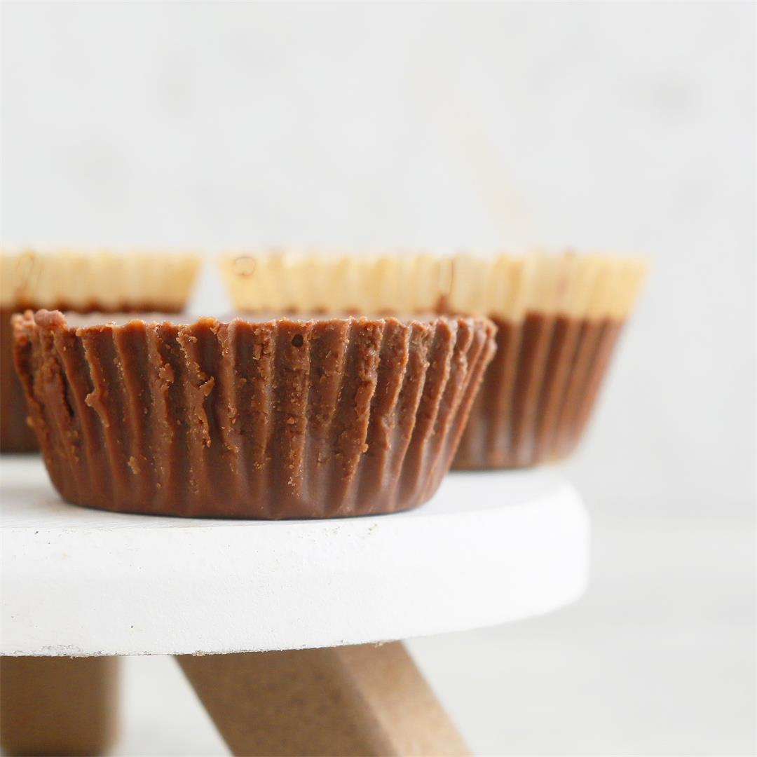 4-Ingredient Homemade Almond Butter Cups Recipe