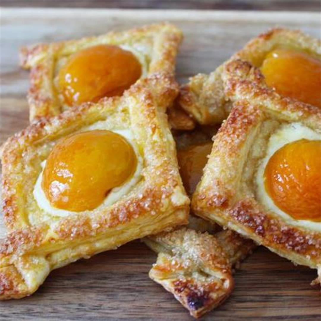 Apricot and Cream Cheese Pastry - It's Not Complicated Recipes
