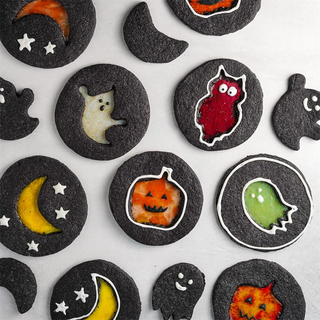 Halloween Windowpane Cookies