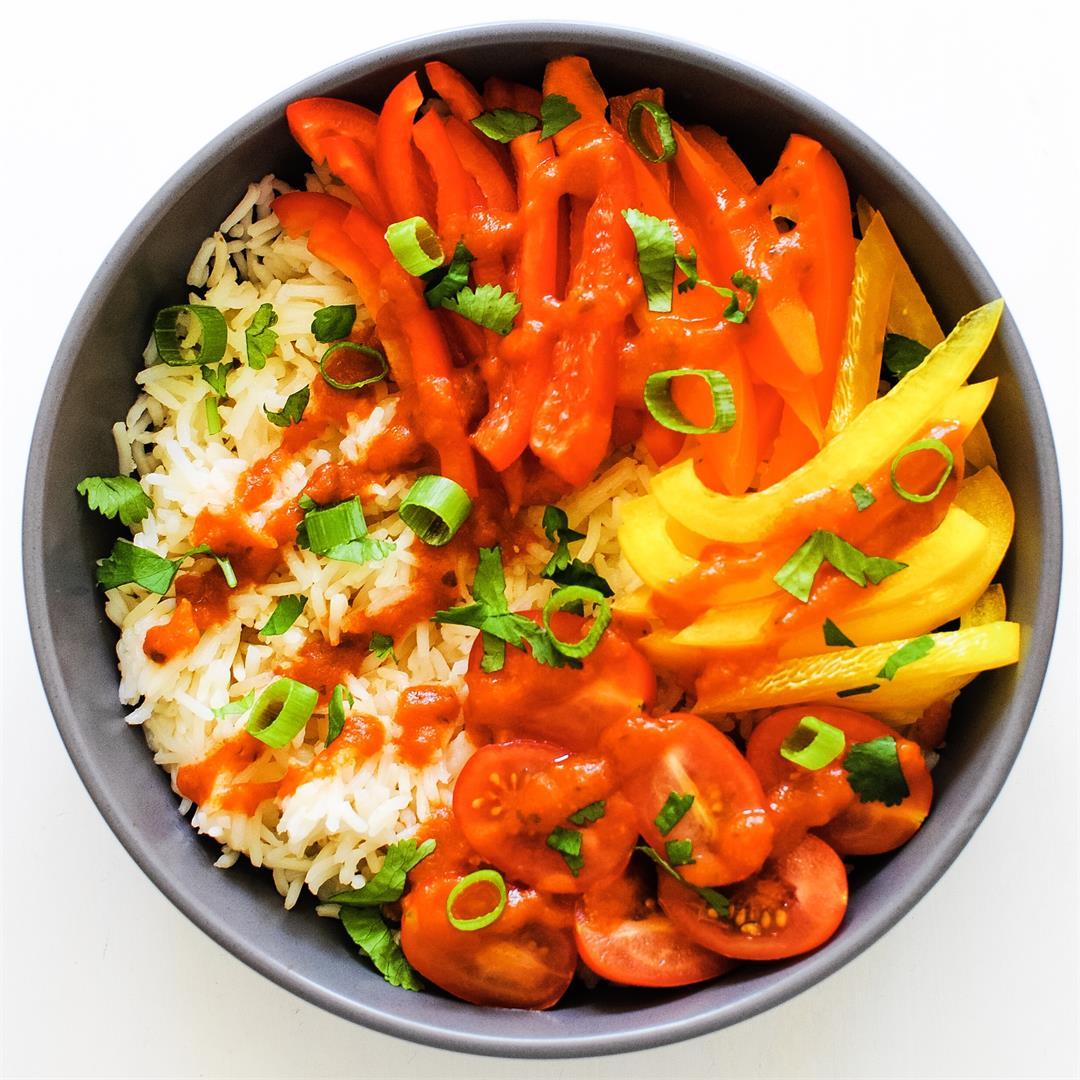 Raw Veggie Enchilada Bowl
