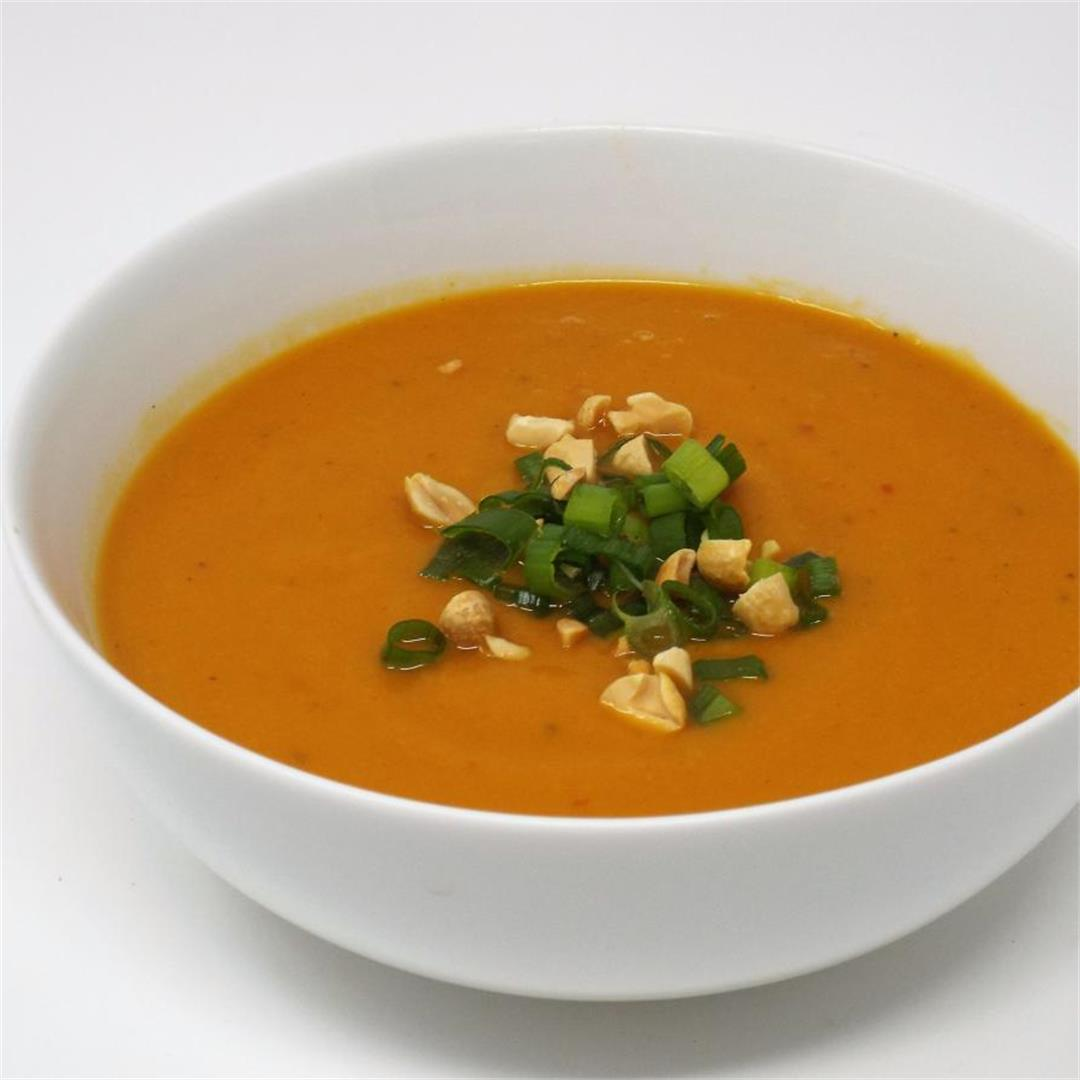 Spicy Sweet Potato and Ginger Soup