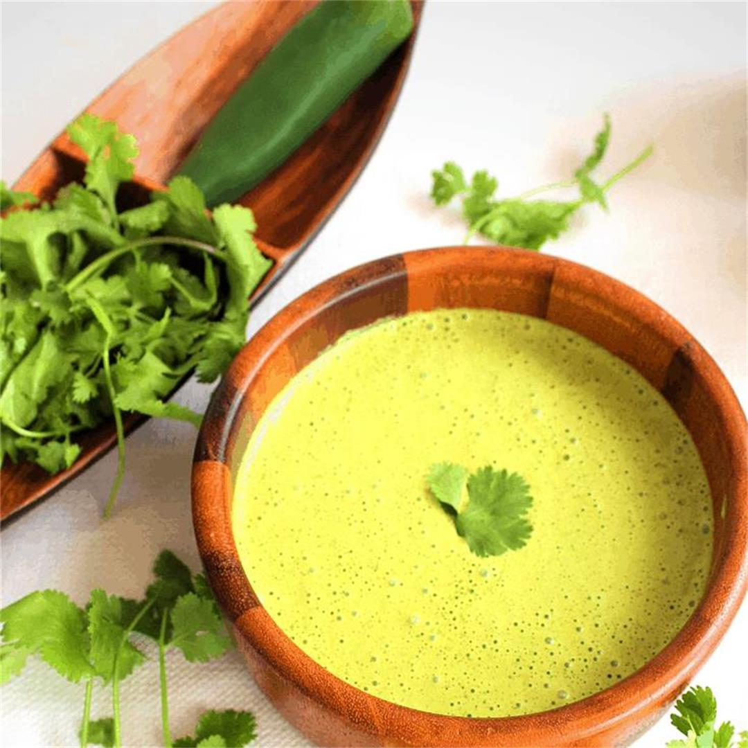 Spicy Green Sauce (Peruvian Salsa Verde with Huacatay)