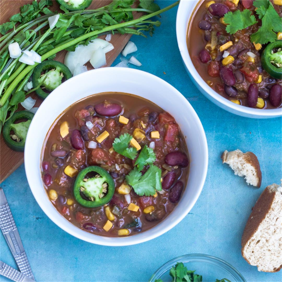 One-Pot Easy Vegan Chili Recipe