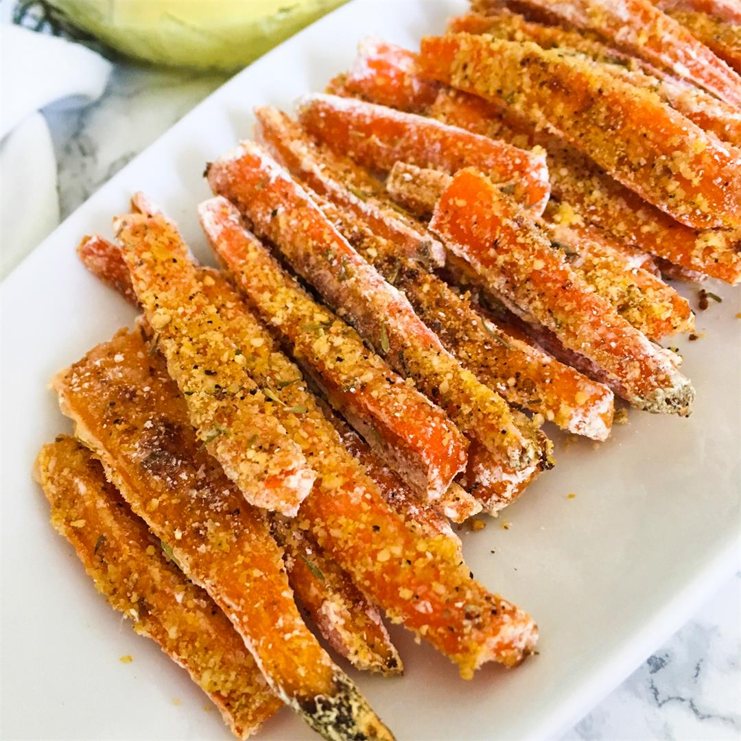 Vegan Parmesan Carrot Fries