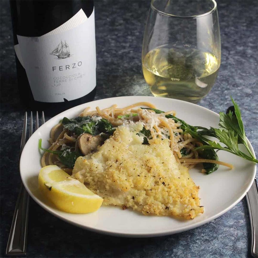 Baked Haddock with Pasta and White Wine from Abruzzo #ItalianFW