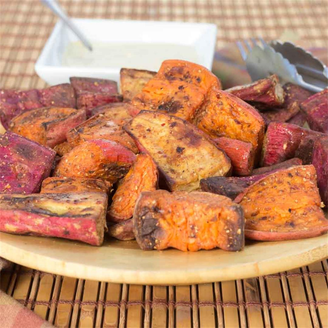 Oil-Free Spiced & Roasted Sweet Potatoes
