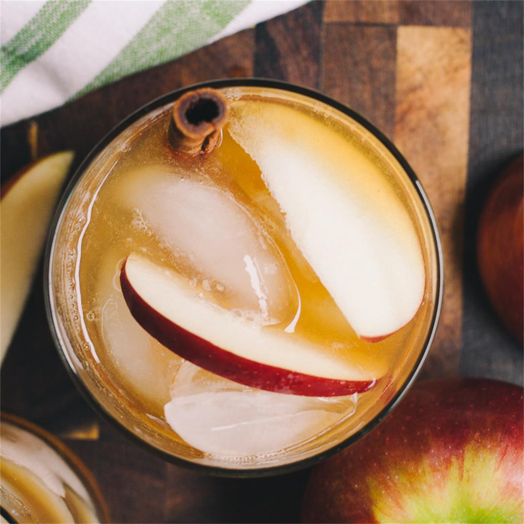Apple Cinnamon Whiskey Sour (Sugar Free)