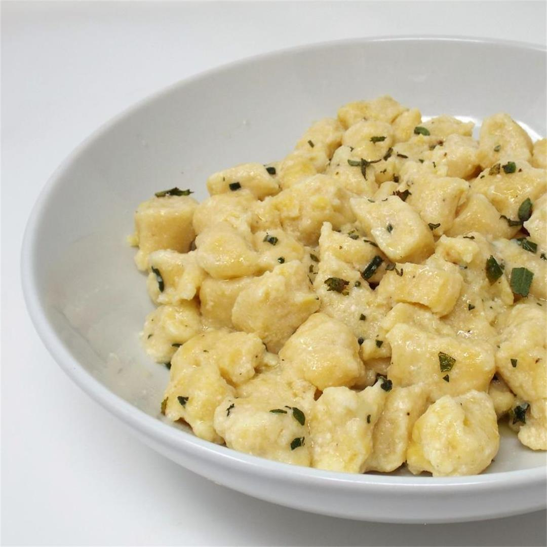 Ricotta Cheese Gnocchi with Sage Butter