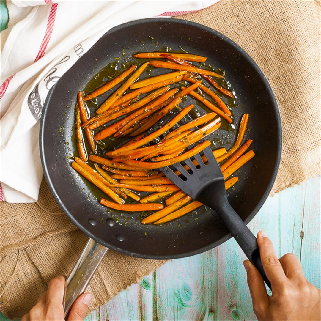 Sauteed Carrots in Maple Thyme Glaze