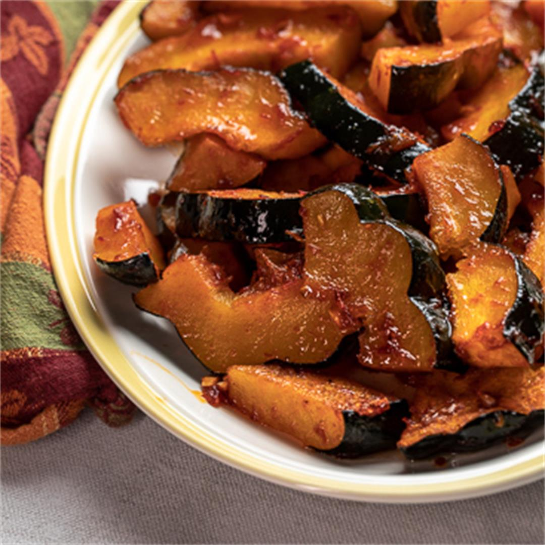 Harissa Roasted Squash