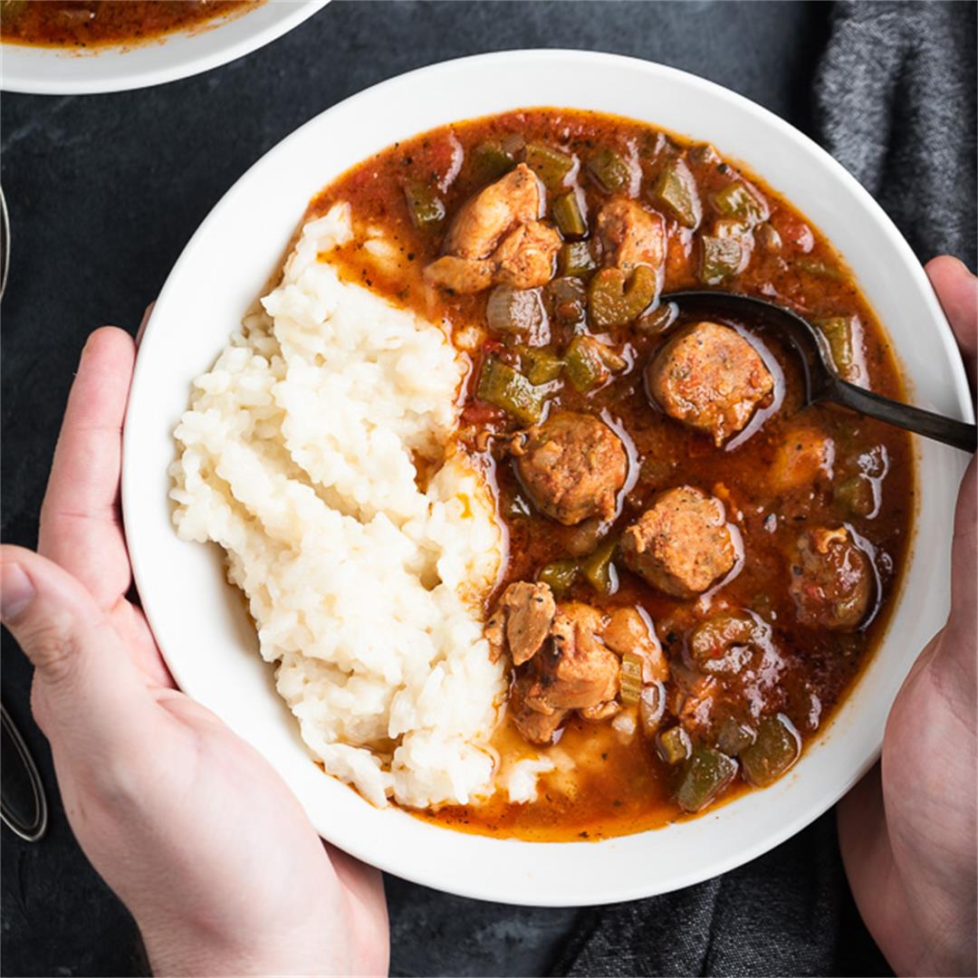 Low Carb Slow Cooker Gumbo
