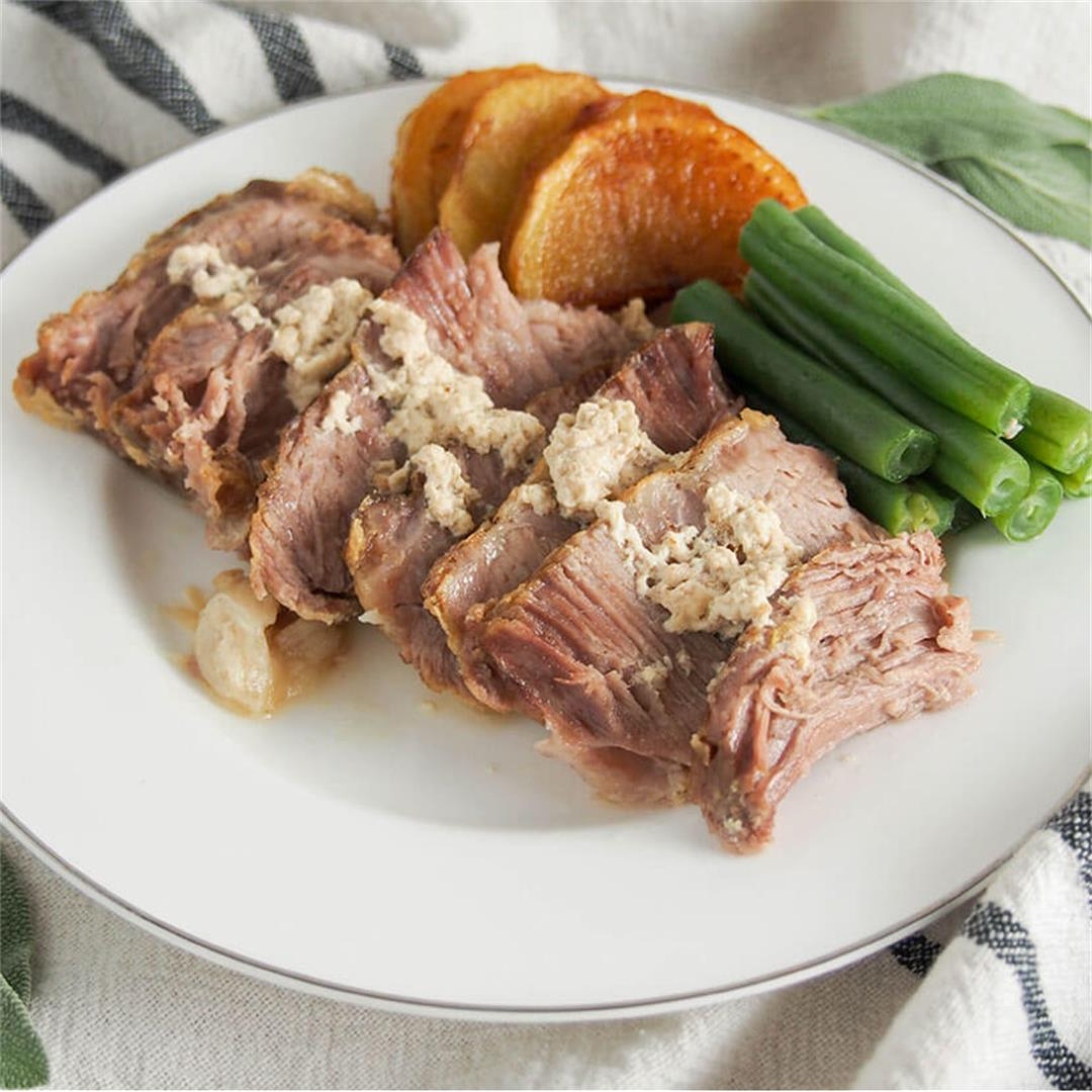 Milk-braised pork (maiale al latte)