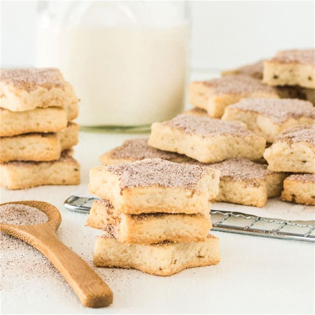 Biscochitos (Cinnamon Anise Shortbread Cookies)