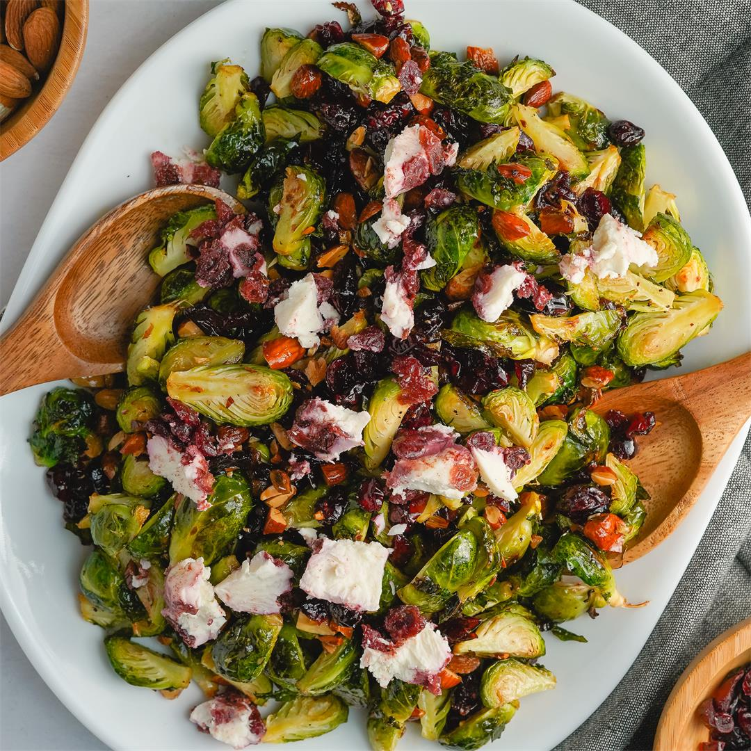 Brussels Sprout Salad with Cranberries