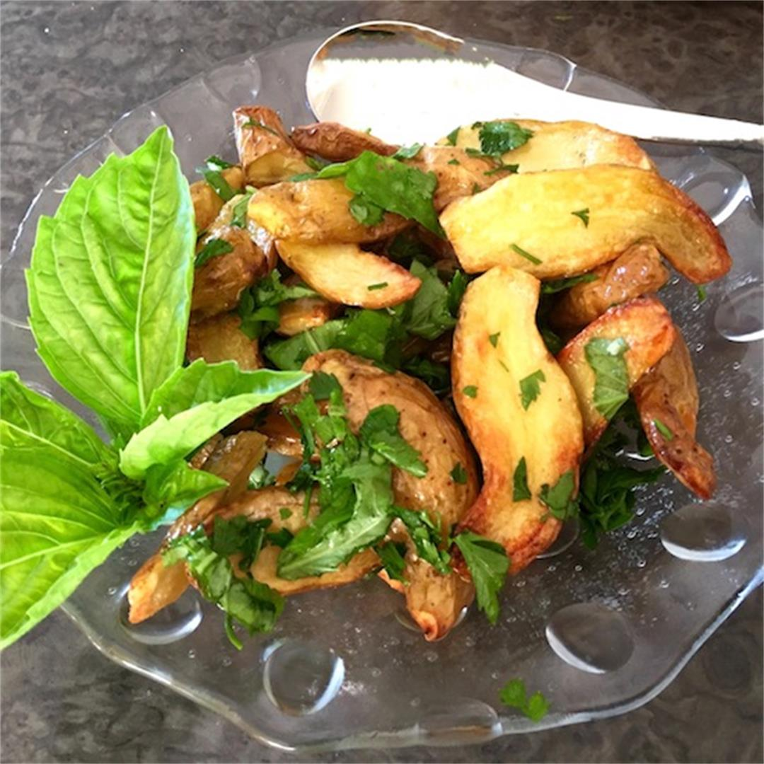 Roasted Kipfler Potato Salad with Herbs