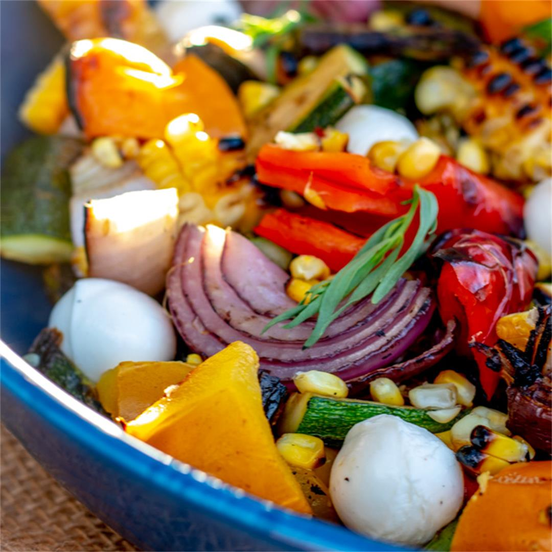 Grilled Vegetable Salad with Tarragon Dressing