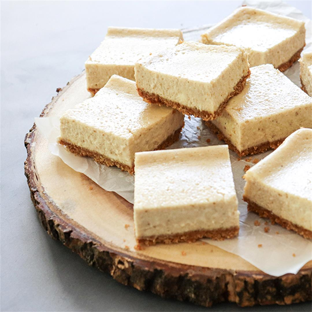 Chai Cheesecake Bars