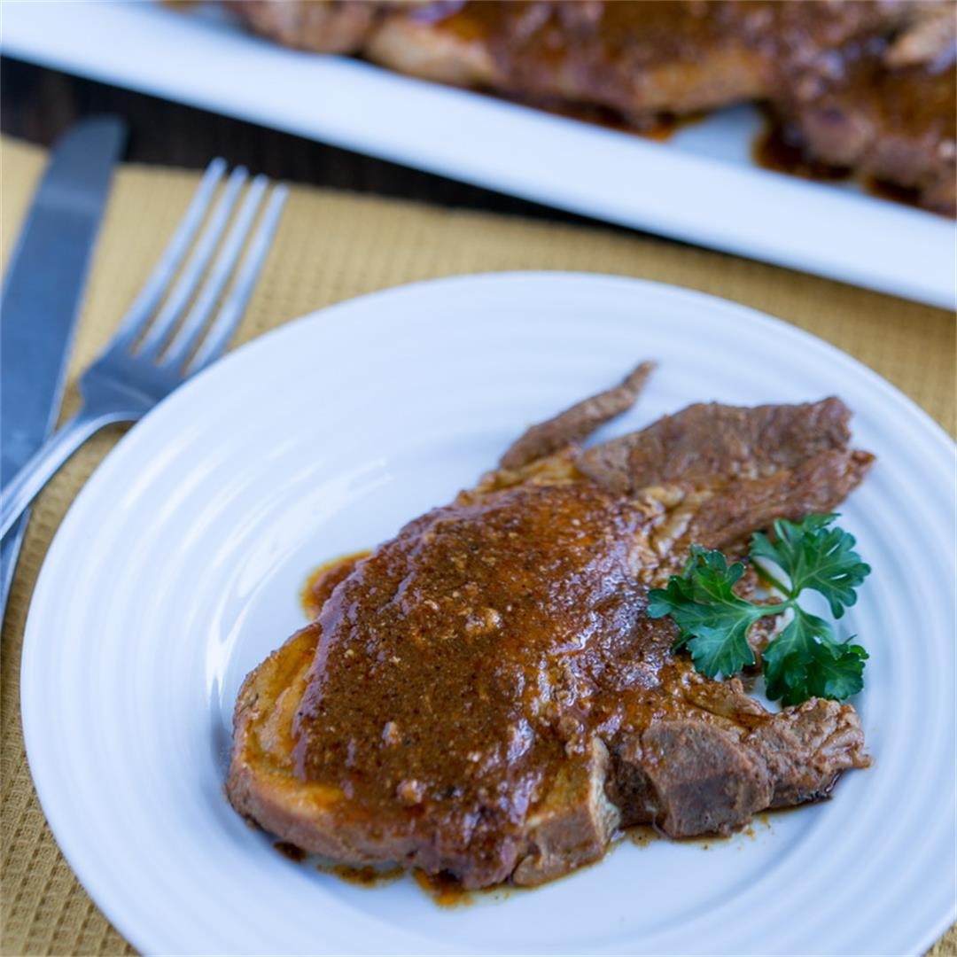 Instant Pot Pork Chops with BBQ Sauce (Keto)