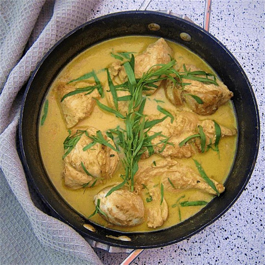 Tarragon Chicken In White Wine Sauce