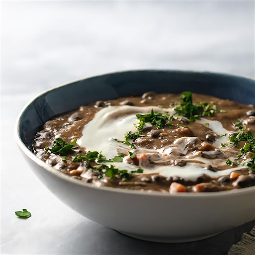 Easy Black Bean Soup (Vegan, GF)