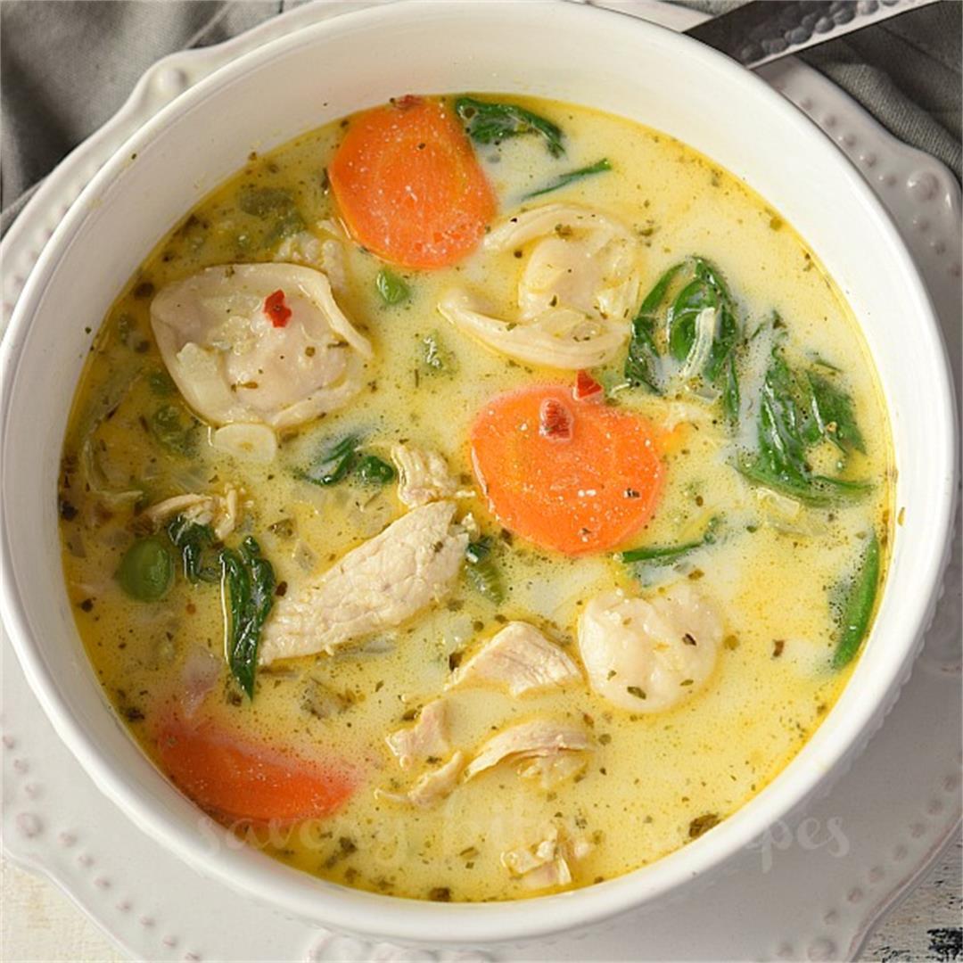 The Ultimate Creamy Chicken Tortellini Soup