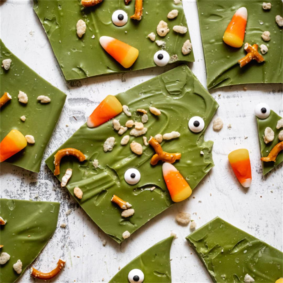 Matcha Halloween Bark - Cooking Therapy