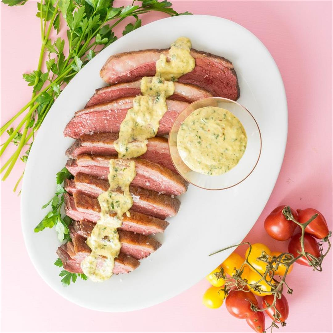 Sous Vide Picanha with Horseradish Dijon Sauce