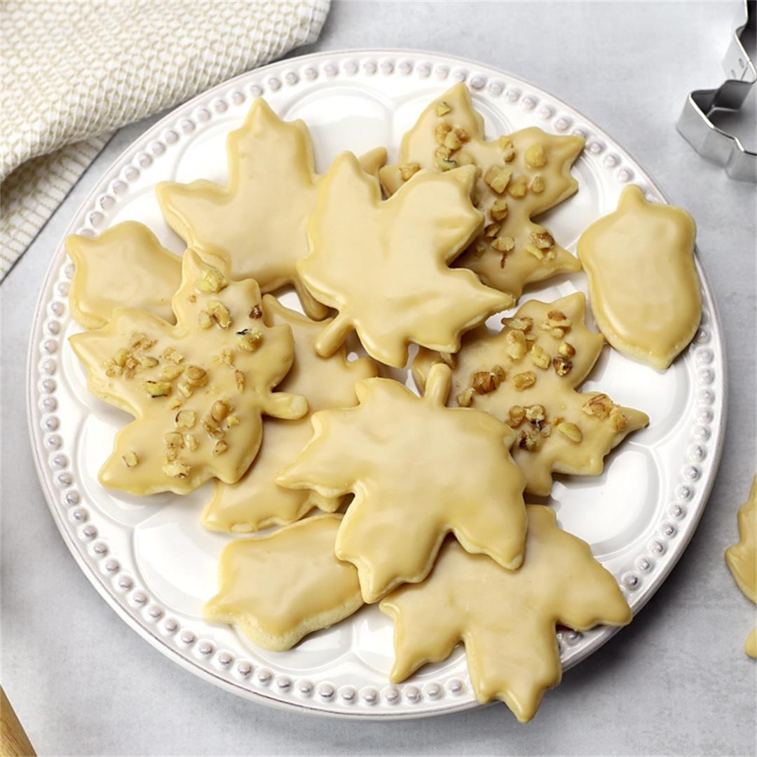 Maple Glazed Cut Out Cookies