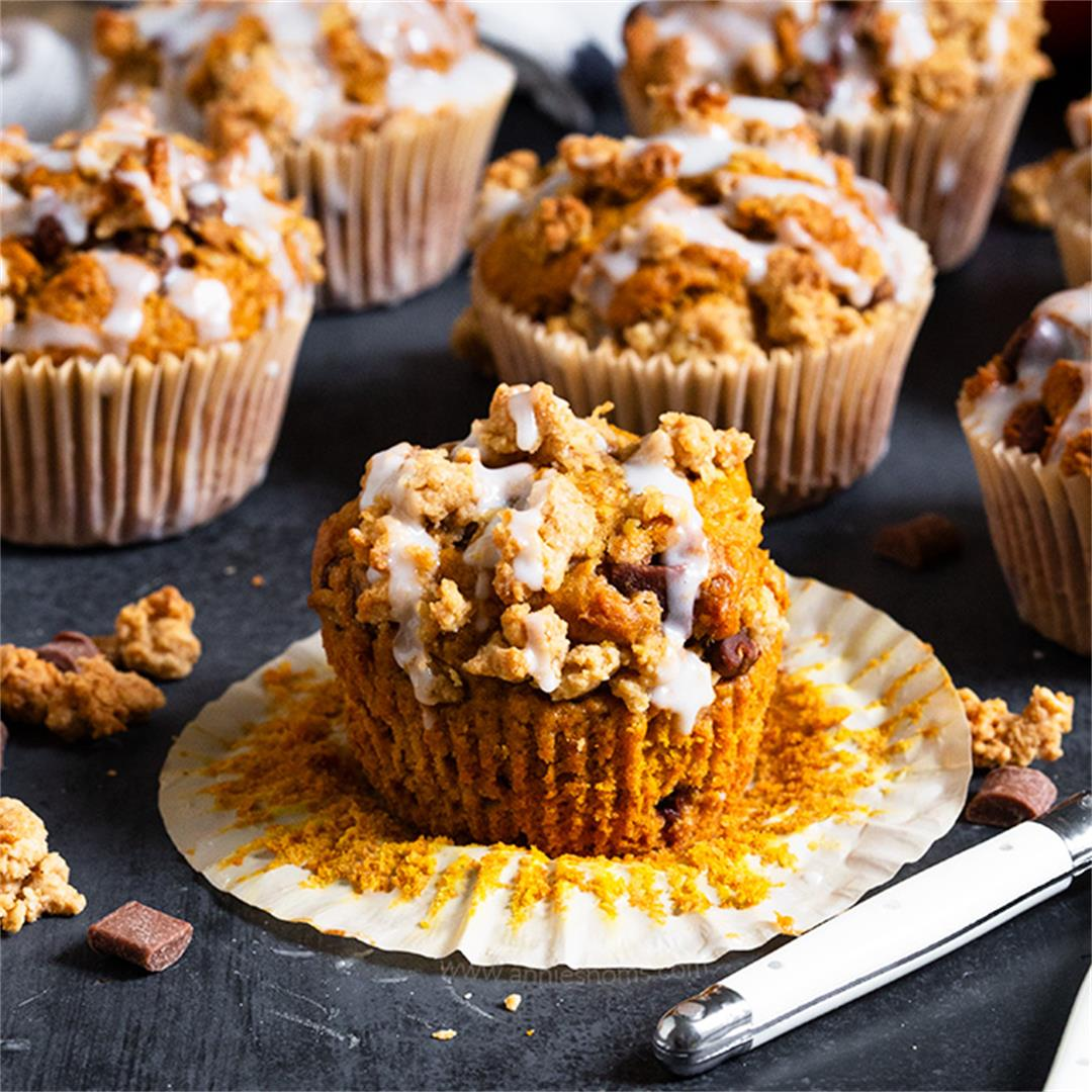 Pumpkin Chocolate Chip Streusel Muffins