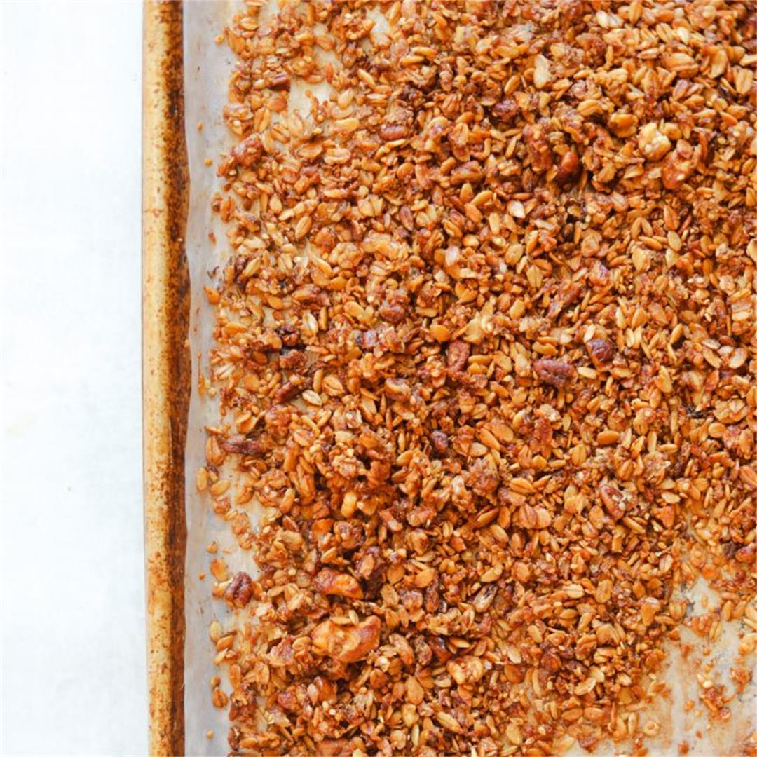 Banana Bread Granola with Brown Butter and Maple Syrup