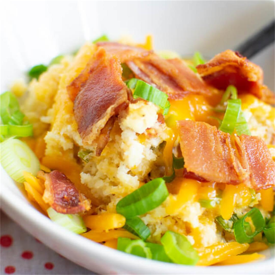 Loaded Baked Cauliflower Mash